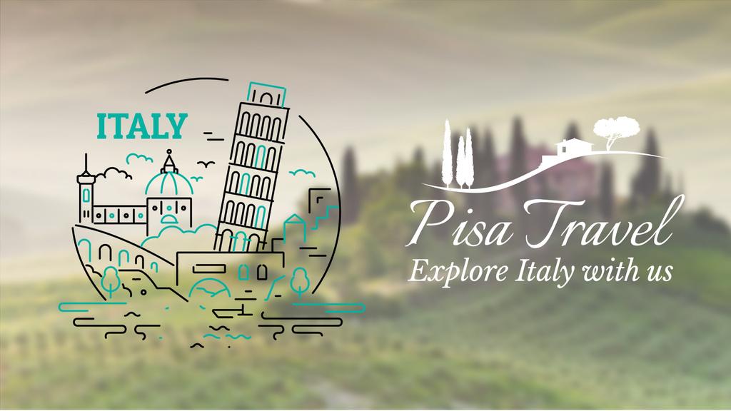 Tour Invitation Italy Famous Travelling Spots — ein Design erstellen