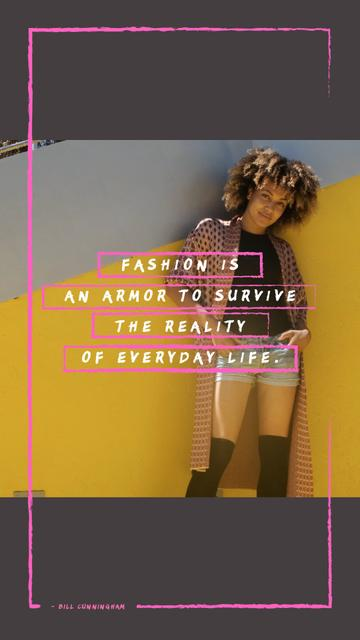 Fashion Quote Stylish Young Woman Instagram Video Story – шаблон для дизайна
