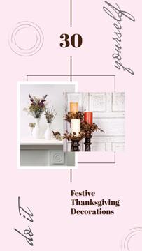 Vases and candles for home decor