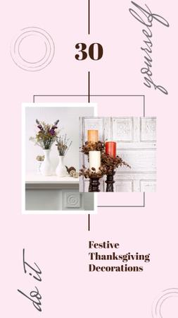 Vases and candles for home decor Instagram Story – шаблон для дизайну