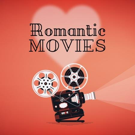 Plantilla de diseño de Romantic Movies on Valentine's Day Animated Post