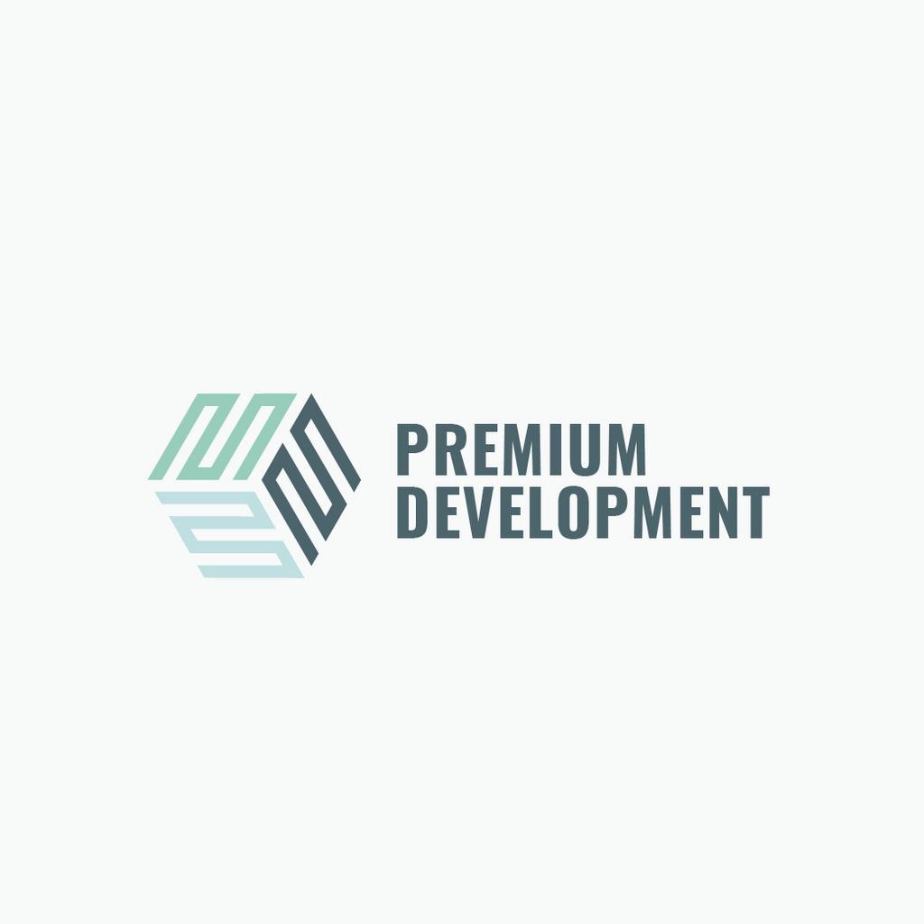 Template di design Development Business Simple Icon Logo