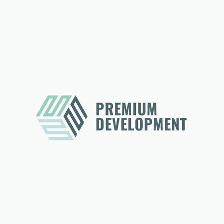 Development Business Simple Icon Logo Tasarım Şablonu