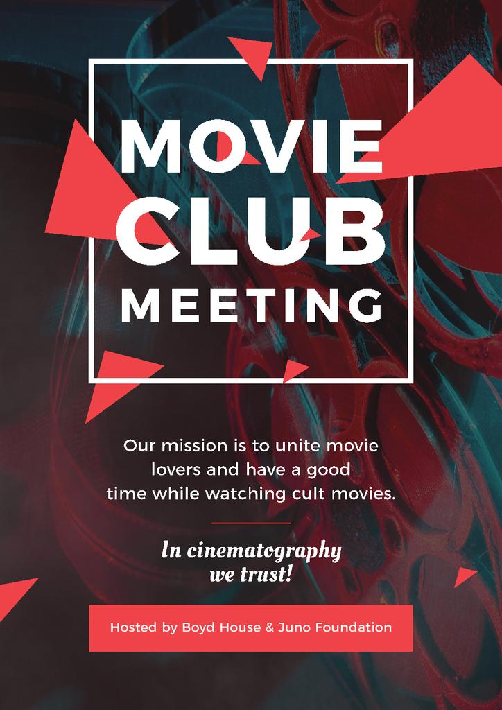 Movie club meeting Invitation — Crea un design