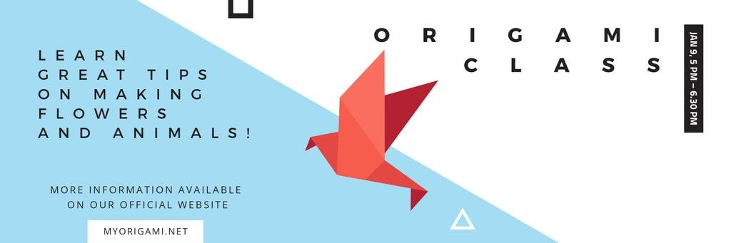 Origami Classes Invitation Bird Paper Figure — Crear un diseño