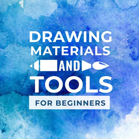 Ontwerpsjabloon van Instagram van Drawing Materials and Tools Store