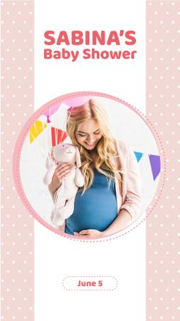 Ontwerpsjabloon van Instagram Video Story van Baby Shower Invitation with Future Mom