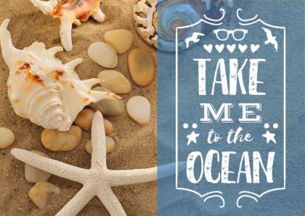 Take me to the ocean poster — Créer un visuel