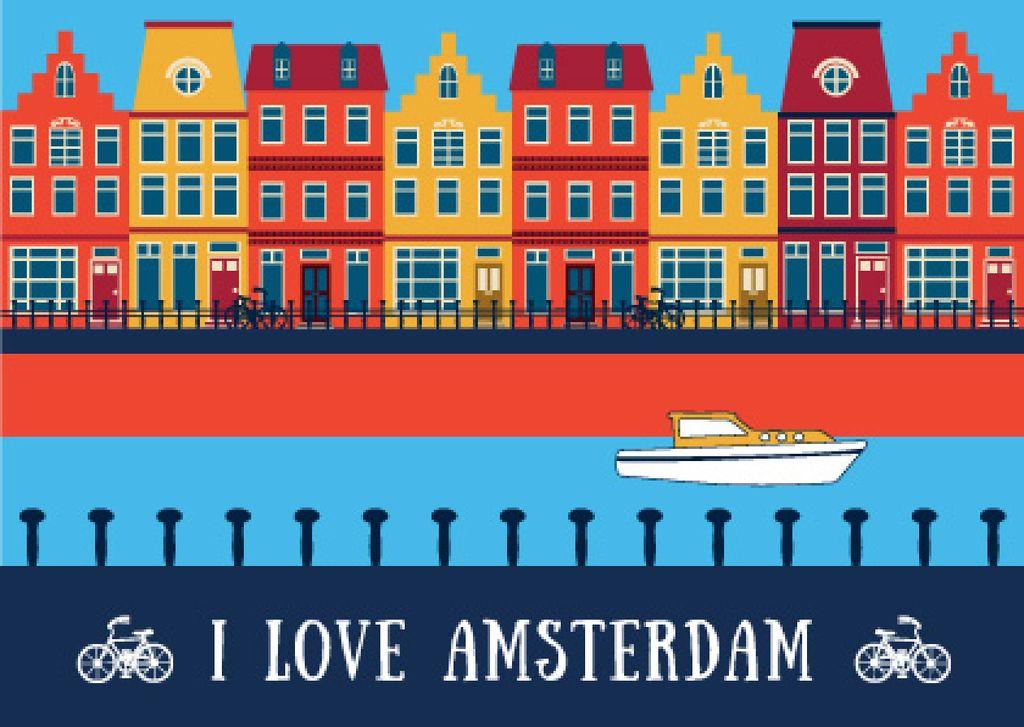 Amsterdam tour advertisement — ein Design erstellen