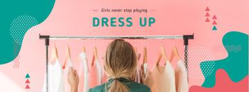 Girl Choosing Clothes on Hangers