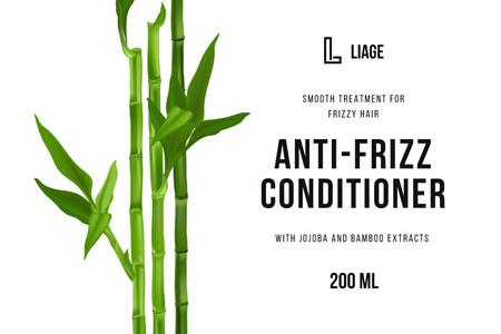 Plantilla de diseño de Hair Cosmetics ad with Bamboo Label