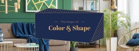 Cozy modern Interior Facebook cover Modelo de Design