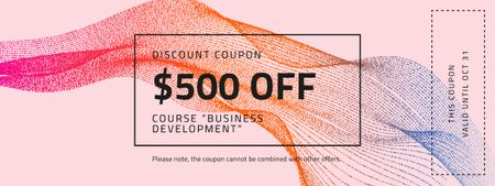 Discount Offer on Business Course Coupon Modelo de Design