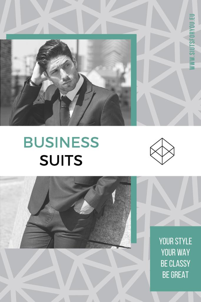 Business suits sale advertisement — Создать дизайн