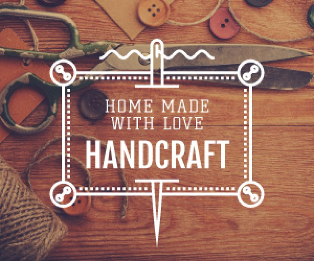 advertisement poster for store of handcrafted goods  — Create a Design