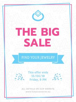 Jewelry sale with Ring in blue