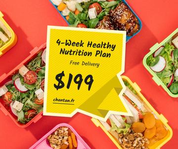 Nutrition Plan menu with Healthy Food