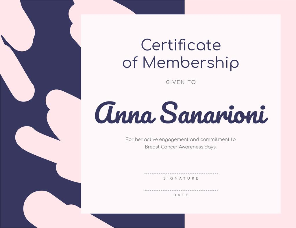 Breast Cancer Awareness program Membership gratitude — ein Design erstellen