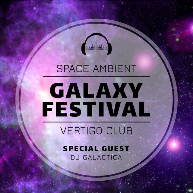 Music Festival Ad Space Stars in Purple Instagram Modelo de Design