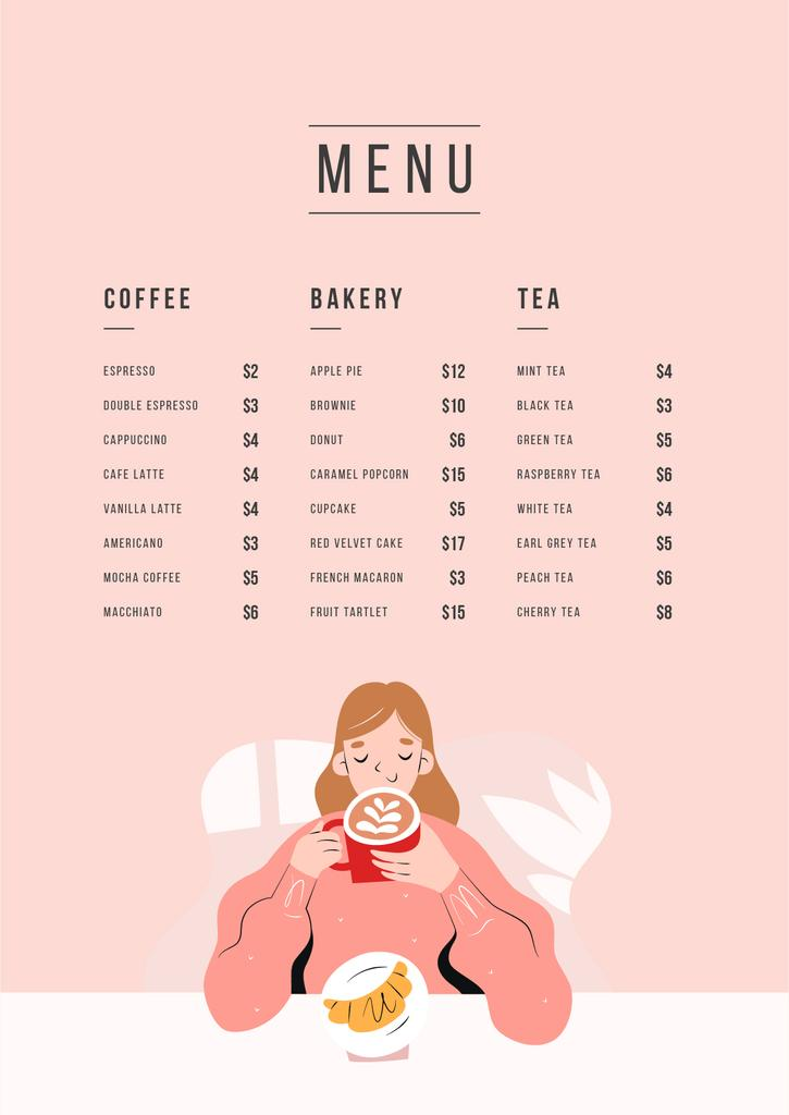 Cafe promotion with dreamy Girl — Створити дизайн