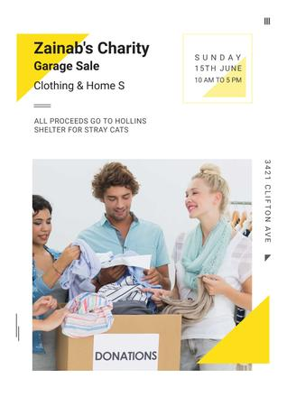 Charity Garage Sale Ad Poster Modelo de Design