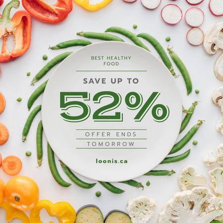 Plantilla de diseño de Healthy Nutrition Offer with Vegetables Instagram