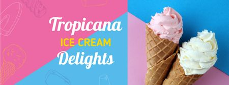 Template di design Sweet Ice Cream offer Facebook cover