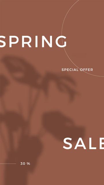 Ontwerpsjabloon van Instagram Story van Spring Sale Special Offer with Shadow of Flower
