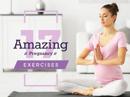 Plantilla de diseño de Pregnant woman practicing yoga Presentation