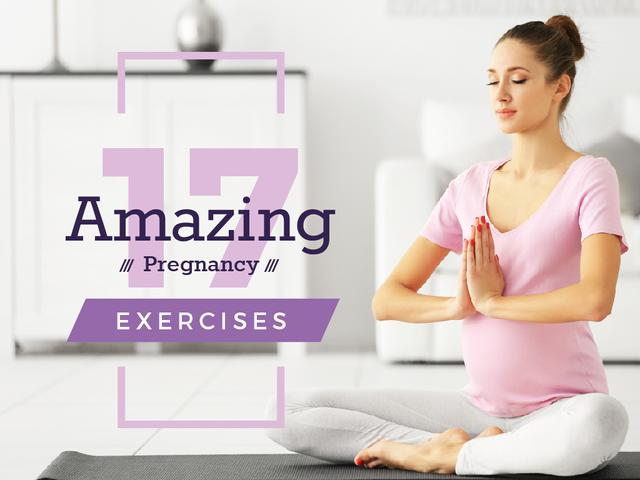 Plantilla de diseño de Pregnant woman practicing yoga Presentation