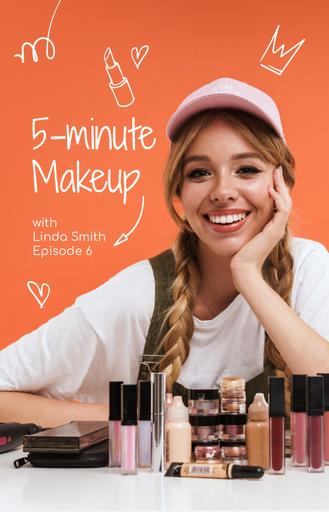 Beauty Blogger With Makeup Cosmetics