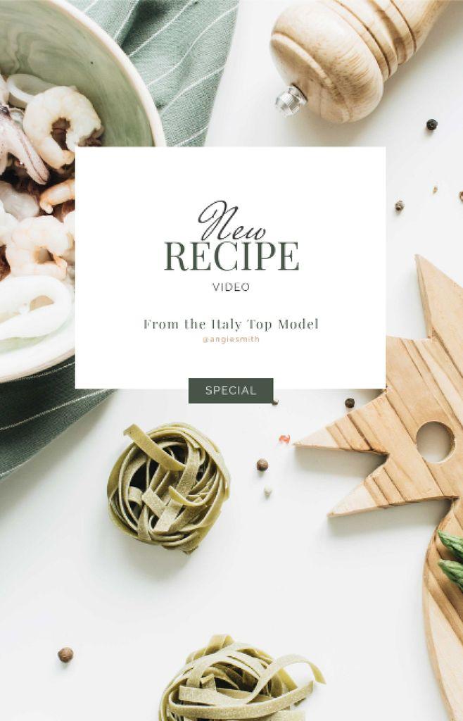 Italian Dish Recipe with seafood IGTV Cover – шаблон для дизайну