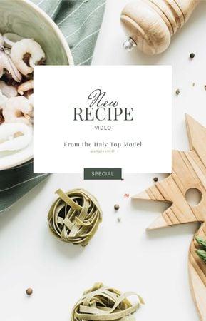 Italian Dish Recipe with seafood IGTV Cover Modelo de Design