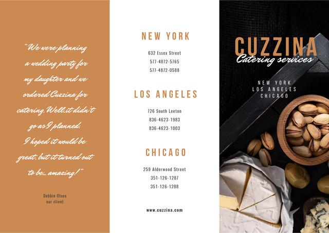 Modèle de visuel Catering Services Ad Brochure - Brochure