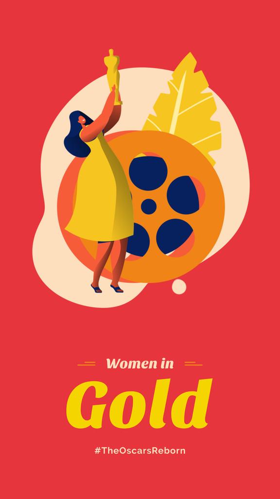 Film Festival Actress with award — ein Design erstellen