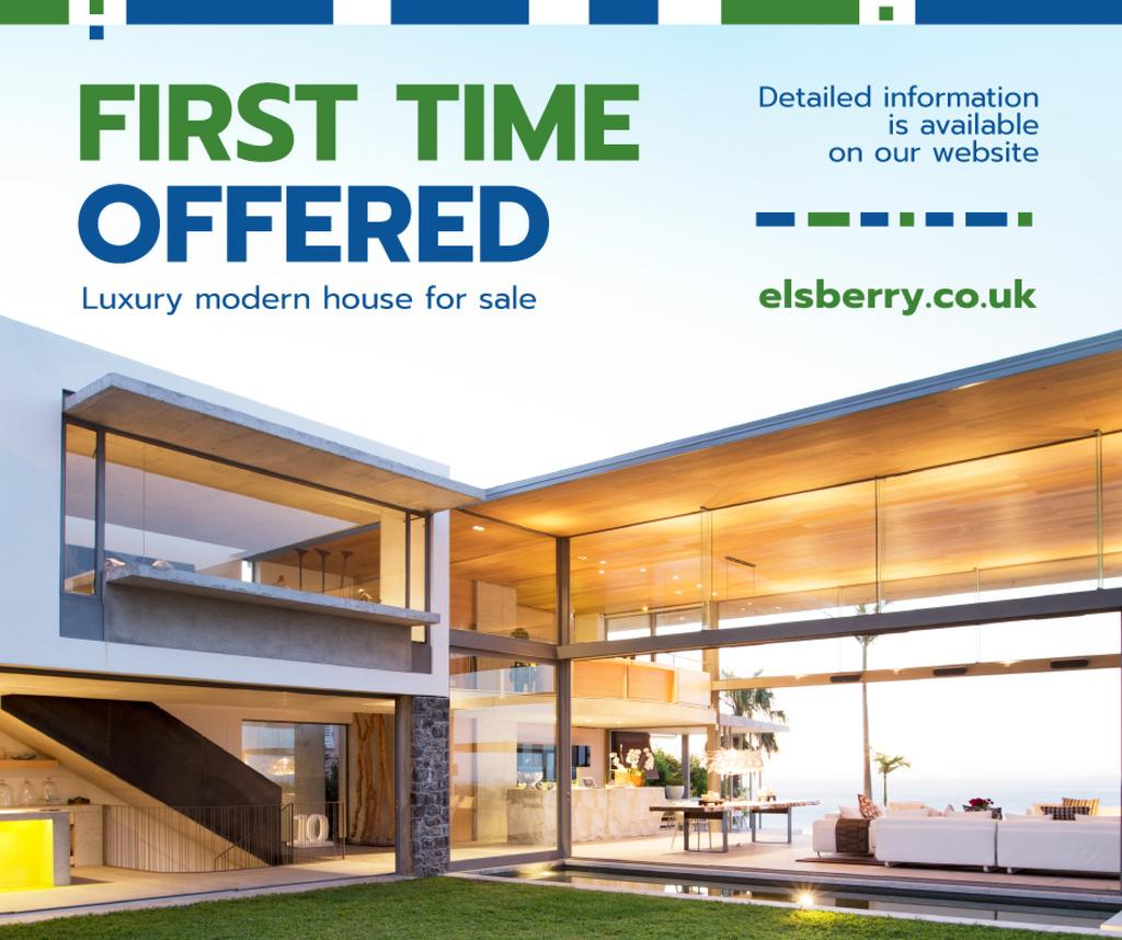 Luxury Real Estate Property Offer   Facebook Post Template — Créer un visuel