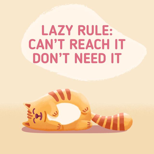 Lazy Cat Lying on Floor Animated Post Modelo de Design