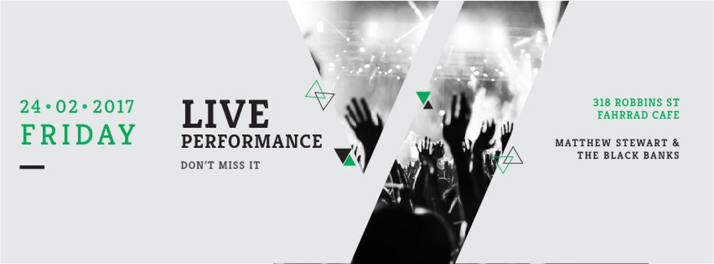 Live performance Annoucement — Create a Design
