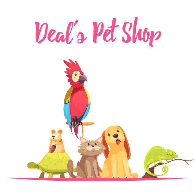 Cute pets in shop Animated Post – шаблон для дизайну