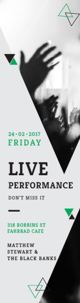 Live Performance Announcement Crowd at Concert — Создать дизайн