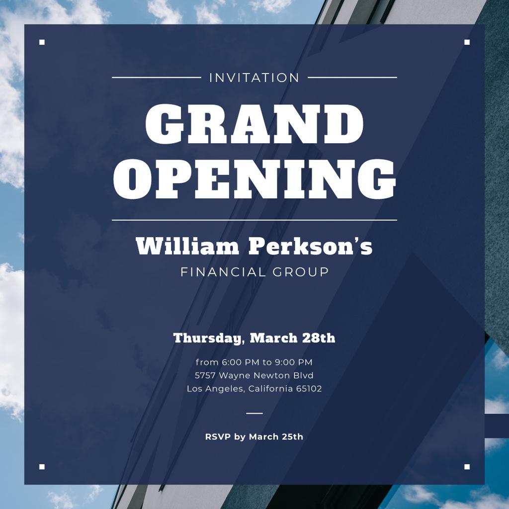 Financial Company Opening Announcement Glass Building — Создать дизайн