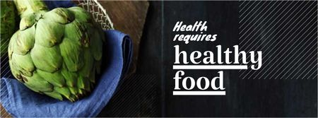 Healthy food Offer with Quote Facebook cover Modelo de Design