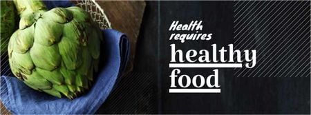 Szablon projektu Healthy food Offer with Quote Facebook cover