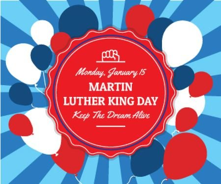 Ontwerpsjabloon van Large Rectangle van Martin Luther King day card