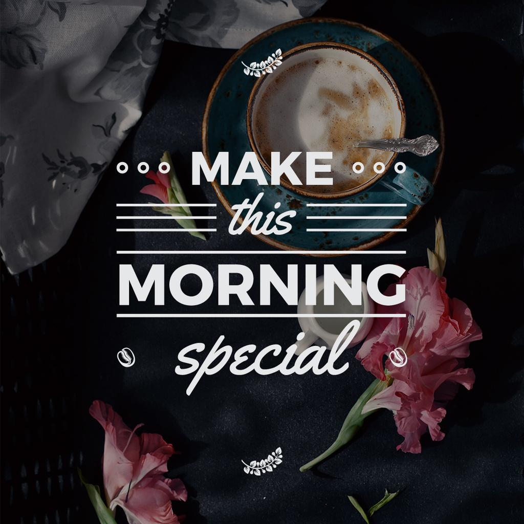 make this morning special motivational inscription — Створити дизайн