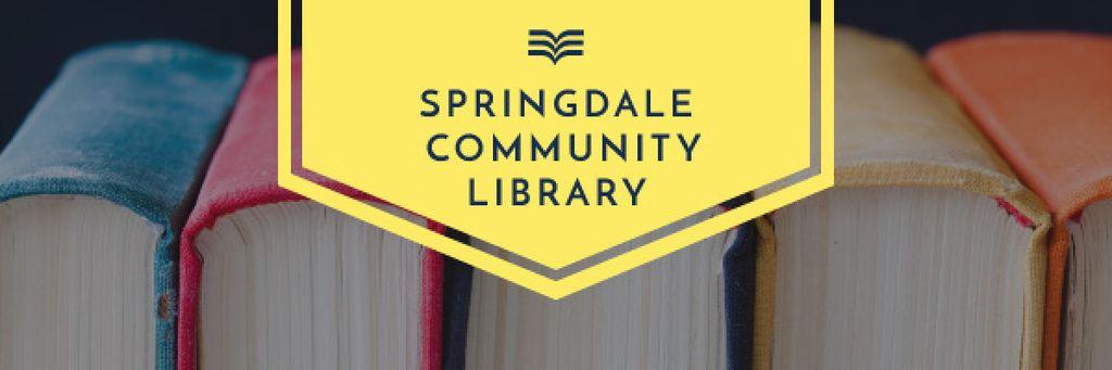 Library Advertisement with Books on Shelf — Crear un diseño