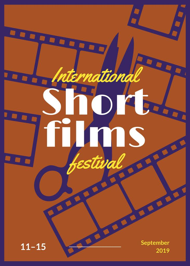Film Festival Invitation Scissors and Film Strips | Flyer Template — Create a Design