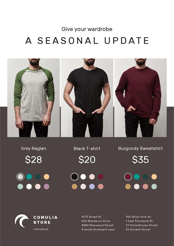 Clothes Sale Man Wearing Casual Clothes — Crea un design