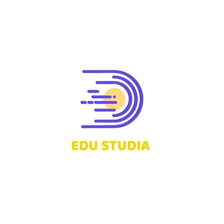 Modèle de visuel Education Studio with Planet in Space - Logo