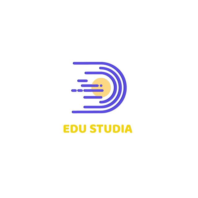 Plantilla de diseño de Education Studio with Planet in Space Logo